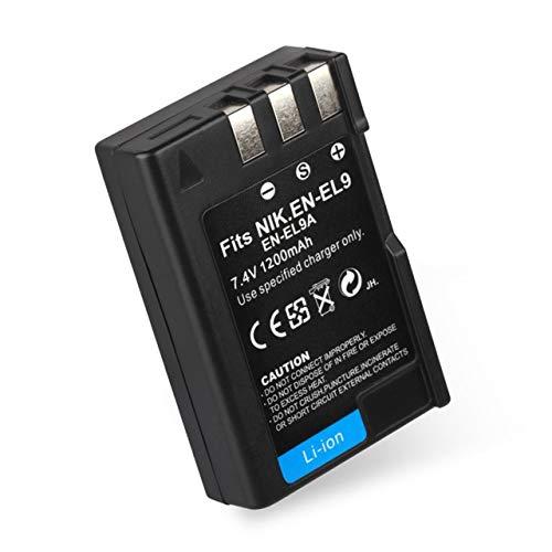 EmNarsissus EN-EL9 / EN-EL9A batería de cámara Digital Profesional de 7,4 V 1200 MAH batería Recargable de Iones de Litio Adecuada para Nikon DSLR D40 D40X