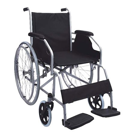 POLIRONESHOP MOVIS Carrozzina pieghevole ad autospinta sedia a rotelle acciaio