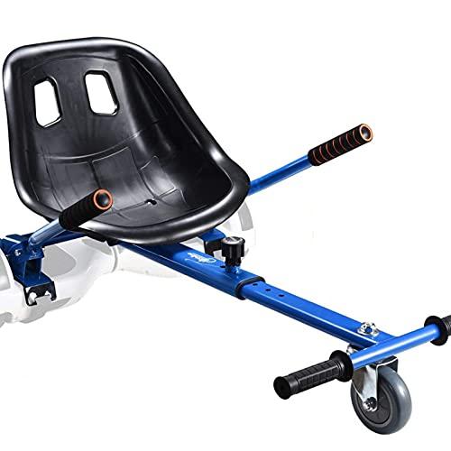 GJG Asiento Kart Hoverboard, con Longitud De Marco Ajustable Compatible, Accesorios De Hoverboard, para Hoverboard De 6.5'8' 10', Niños Y Adultos,Azul