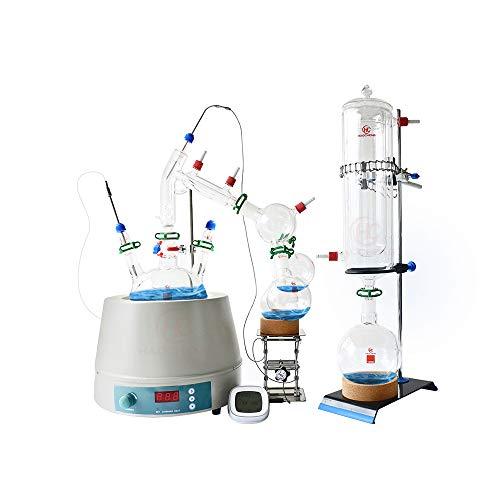 5L Short Path Distillation kit, ShortPath with Stirring Heating Mantle 110V