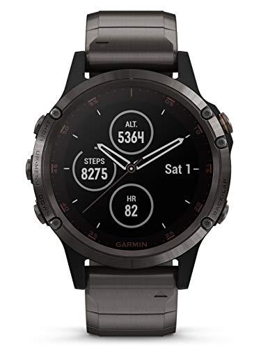 Garmin Reloj Fénix 5 Plus Zafiro Titanio con revestimiento de DLC Gris Carbón 010-01988-03