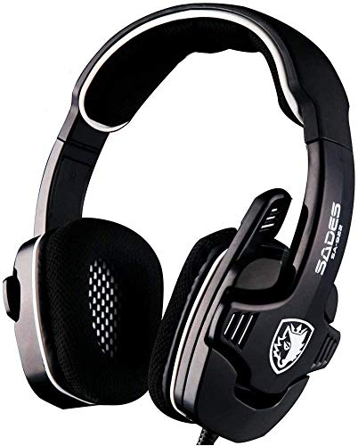 FHW Gaming koptelefoon, live computer notebook esports headset met snoer Bass stereo microfoon for PC, MAC, PS4, Xbox One (zwart) koptelefoon