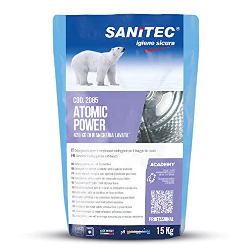 Atomic Power Detersivo in Polvere per Lavaggio a Mano e in Lavatrice - Igienizzante - 15 kg