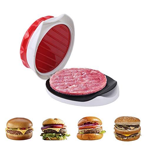 Dzmuero Prensa de Hamburguesa,Molde Hamburguesa Prensa de Carne para Hamburguesas con Bandeja Extraíble de Cocina de Mano Utensilios de Cocina para Barbacoas Apto para Lavavajillas