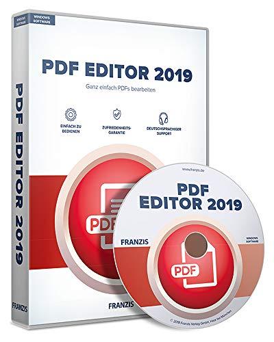 FRANZIS PDF Editor 2019|2019|Für bis zu 3 Geräte|zeitlich unbegrenzt nutzbar|Software für Windows 10/8.1/8/7|Disc|Disc