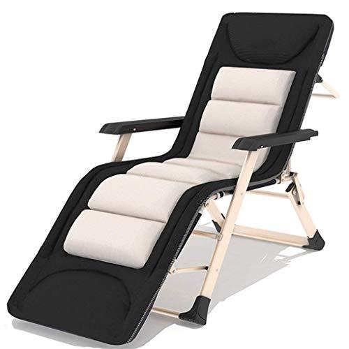 WJJJ Stuhl Loungesessel für Wohnzimmer Terrassenstühle Wetterfester Verstellbarer Liegestuhl aus Textoline für den Pool unter der Veranda (Farbe: Stuhl + Kissen 2, Größe: 178 cm)