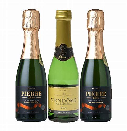 【ノンアルコールワイン 200ml 3本 セット】 ピエール・ゼロ×2+ヴァンドームクラシック×1 スパークリング ワイン ギフト プレゼント お祝い パーティー 記念日 辛口 alc0.0%