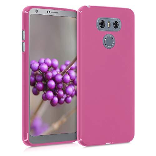kwmobile Custodia Compatibile con LG G6 - Cover in Silicone TPU - Back Case per Smartphone - Protezione Gommata Rosso Carminio