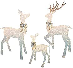 Large 3-Piece LED Lighted Holiday Deer Family - 60