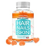 Hair Skin and Nails Vitamins with Biotin, Vitamin C, Supports Healthy Complexion and Hair Growth Thickening Strength for Women/Men(60 Gummies)