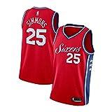 Ben Simmons - Camiseta de baloncesto para hombre de Philadelphia 76ers, 90S Hip Hop Ropa para fiesta, 25# Unisex retro bordado de malla jersey-All-Star Sección