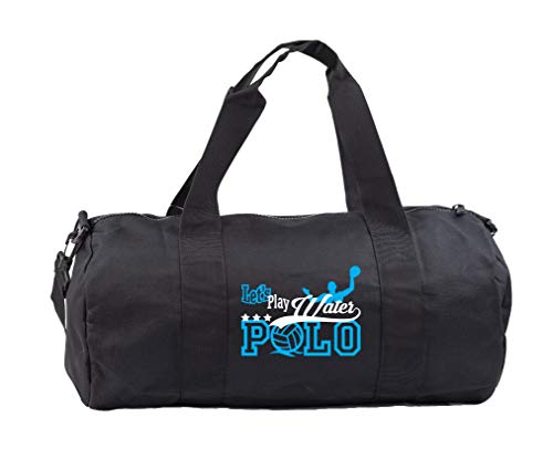 Hippowarehouse Let's Play Water Polo Gymwear Gym Duffle Cylinder Uniform Kit Bag 50 x 25 x 25cm 20 litres