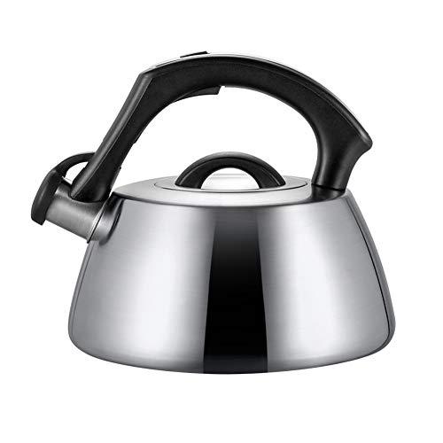 Teteras para fogón,Hervidor de agua de acero inoxidable con mango resistente al calor, redondo, apto para todo tipo de estufas, incluso inductivo