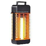 Aliespain Calefactor Estufa 2 Tubos de Cuarzo 800W Calefactor Calentador Radiador Halogeno Calor hogar