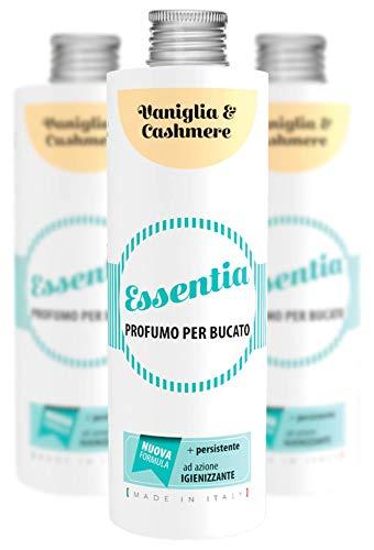 ESSENTIA Profumo per Bucato con Igienizzante, Essenza Profuma Bucato con Estratti di Oli Essenziali Naturali (Vaniglia & Cashmere, Multipack 3x500 ml)