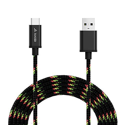 Juiced Systems Cable de alimentación de datos USB 3.2 Gen 2 USB-C a USB-A de 10 Gbps - Carga rápida con transferencias de datos...