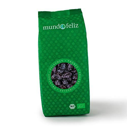 Mundo Feliz Bio Pflaumen getrocknet, entsteint, ungeschwefelt, ungezuckert, 2 x 500g
