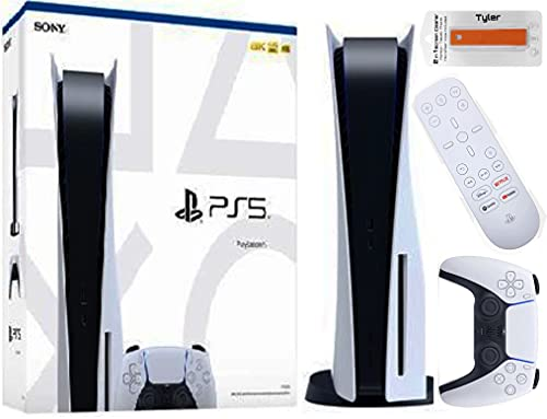 Play-Station 5 Disk Series Console with PS5 Media Remote & Tyler 2 in 1 Screen Cleaner Package New Play Station 5 Disk Console