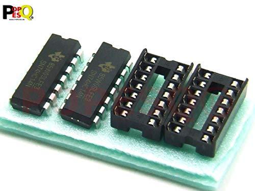 POPESQ® 2 Stk. x 74HC14 Schmitt Flipflop mit Sockel #A2710
