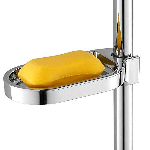 OKBY Jabonera -ABS Jabonera Sostenedor Ajustable de la Barra de Ducha Tobogán de baño práctico