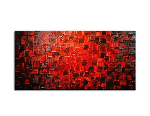 Cabecero cama moderno rojo en relieve