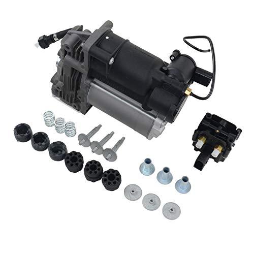 GELUOXI Suspensión Compresor de suspensión neumática Con válvula para B-M-W X5 E70 X6 E71 E72 37206789938 37206799419 37206859714