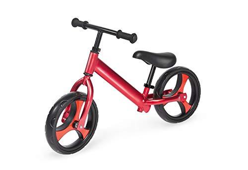 Pinolino Laufrad Luke, Aluminium, unplattbare Bereifung, federleicht, Lenker und Sattel stufenlos höhenverstellbar, für Kinder von 3 – 5 Jahren, rot