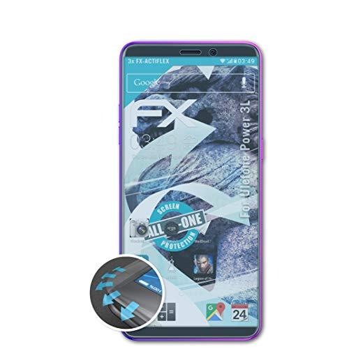 atFolix Schutzfolie kompatibel mit Ulefone Power 3L Folie, ultraklare & Flexible FX Bildschirmschutzfolie (3X)