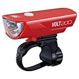 キャットアイ(CAT EYE) LEDヘッドライト [VOLT200] USB充電 レッド HL-EL151RC 自転車
