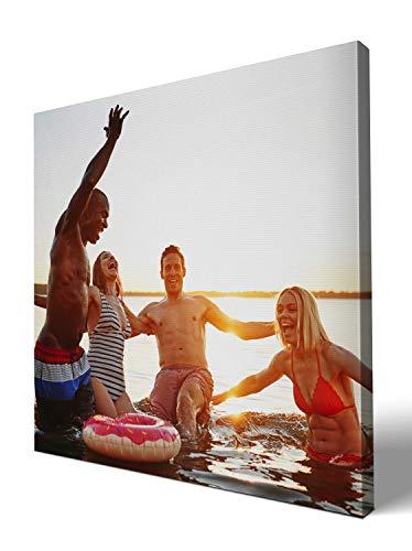 wandmotiv24 eigenes Foto Quadratisch 40x40cm auf Leinwand drucken Lassen, Ihr Fotodruck selbstgestalten eigenes Motiv, Leinwandbild, Fotogeschenk individuell
