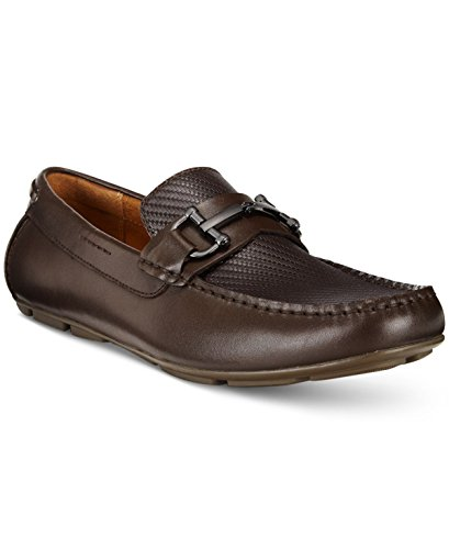 Alfani Mens Len Leather Square Toe Penny Loafer, Brown, Size 11.0