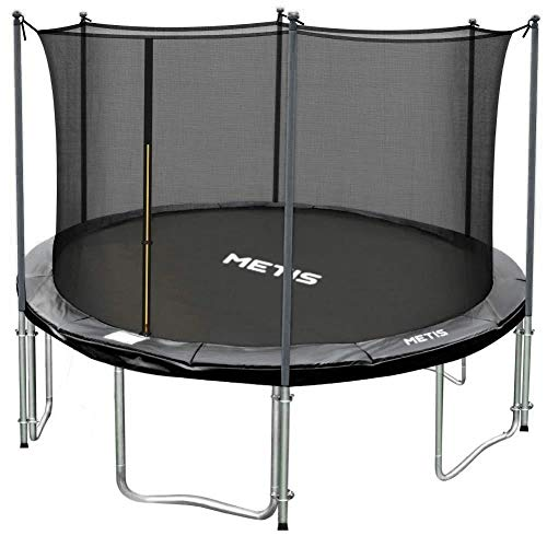 METIS Garden Trampolines – 8ft, 10ft, 12ft, 14ft,15ft | Family Outdoor Fun – Padded Springs and Tall Net Enclosure (8ft, Voyager)