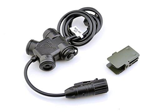 Z-TAC Official Store Z-Tactical SILYNX CLARUS Draht & PTT kompatibel mit Comtac & SORDIN Headset, wasserdichtes PTT Kabel Push to Talk Headset-Adapter Z130-YA