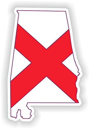 Tiukiu Aufkleber Alabama Karte Flagge Silhouette für Laptop Buch Kühlschrank Gitarre Motorrad Helm Werkzeugkasten Tür PC Boot