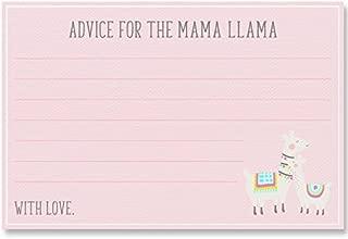 Advice For Mommy To Be, Advice For The Mama Llama, Pink, Grey, Gray, Bohemian, Llama Baby Momma, Mama Llama, Baby Llama, Llama Baby Shower, 24 Printed Cards