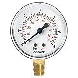 Industrial 63 mm patraña manómetro 6 bares vertical 1/4