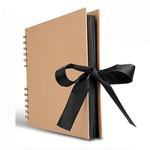 STARVAST Album Photo 40 Feuilles (80 Pages), Album Photo Kraft, Album Photo Scrapbooking pour Livre d'or de Mariage Anniversaire, Cadeaux de Noël (Jaune)