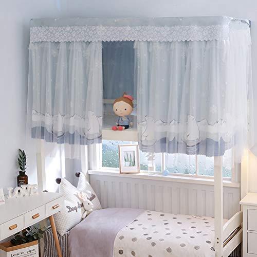 ZXYSR Bettvorhang Vorhang Hochbett Schlafzelt Spielzelt Kinderbett Bett Etagenbett Studentenwohnheim Kinderzimmer(Nur Moskitonetz, Ohne Halterung),E,115CM