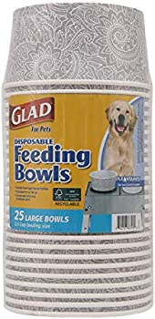 25-Count Glad for Pets Disposable Feeding Bowls and Feeding Station