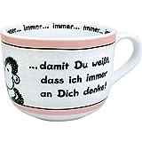 Sheepworld 42691 große Tasse, an dich Denke, 60 cl, Porzellan, Geschenk-Tasse