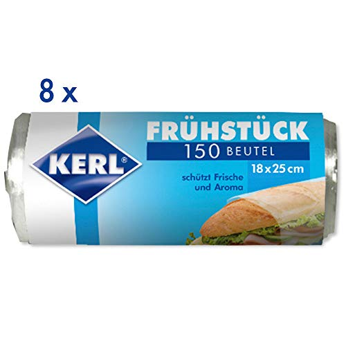Best Review Of KERL Breakfast Bag 18 x 25 cm 8 Rolls of 150 Pieces HDPE