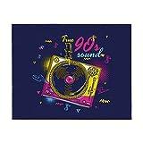 True 90s Sound Funky Music - Manta para sofá cama, ligera, para todas las estaciones de 106 x 150 cm