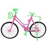 Huakii 【Cadeau d'Avril】 Bicicleta de Bicicleta de plástico Desmontable - Bicicleta de Bicicleta de plástico de Juguete con Canasta para Accesorios de Exterior de muñeca Pin