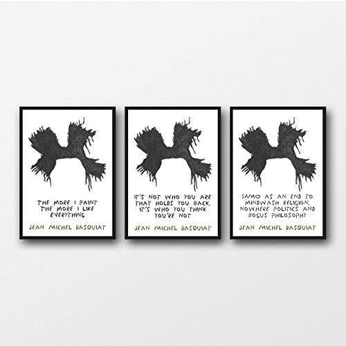 Set von 3 Basquiat Drucke, Geschenk für Kunstliebhaber