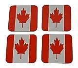 Kanada Flagge Drink Untersetzer Set Geschenk für Kanadier Maple Leaf Home Kitchen Bar Barartikel