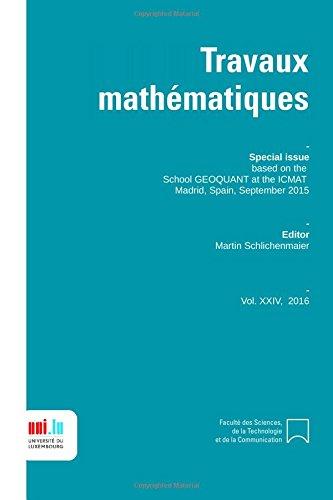 travaux mathematiques volume 24: Geoquant 2015