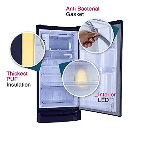 Godrej 185 L 4 Star Inverter Direct-Cool Single Door Refrigerator (RD UNO 1854 PTI AQ BL, Aqua Blue) 5