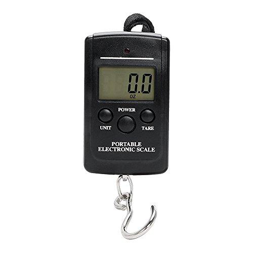 iTimo DIYWORK - Báscula portátil para equipaje de viaje, 40 kg, pantalla LCD, báscula de pesca digital, gancho electrónico, portátil