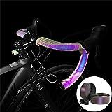 SEHNL PU + EVA Ciclo de la Bicicleta del Manillar de la Cinta de la Correa de atenuación de la Banda Reflectante Correa del cinturón con Degradado Que Cambia de Color de la Bici Deportiva