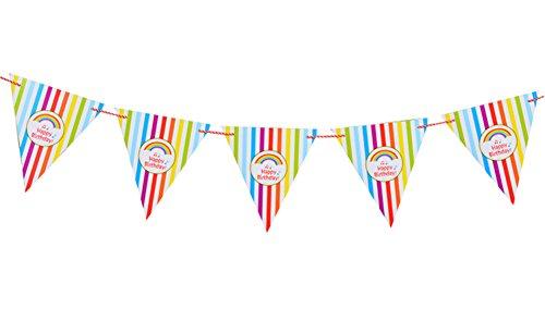 Demarkt driehoek wimpel letterpatroon met 12 kleurrijke vlaggen vlaggetjes banner voor Kerstmis bruiloft verjaardag party decoratie 3M